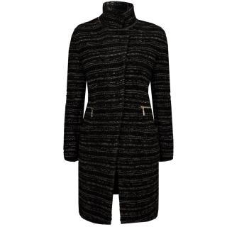 Lil pour l'Autre Wool-Mix Boucle Coat In Dark Grey
