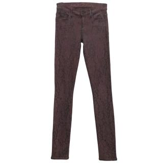 Goldsign Plum Patterned Jeans