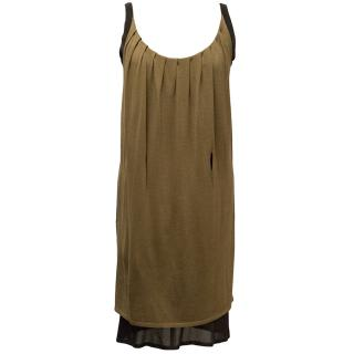Pringle of Scotland Brown Layered Dress