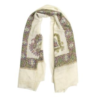 Art of Loom Embroidered Scarf