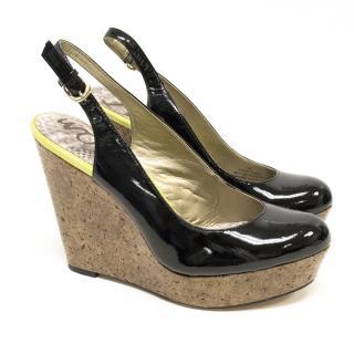 Sam Edelman Black 'MALLORY' Slingback Shoes