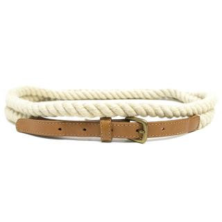 Club Monaco Off White Rope Belt