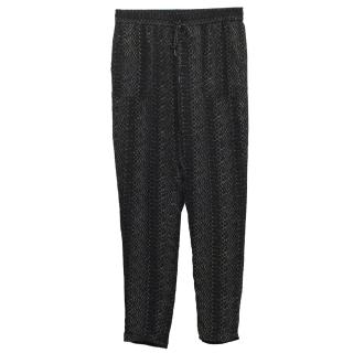 Joie Snakeskin Black and Grey Trousers