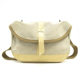 Fay Beige Suede Cross Body Bag
