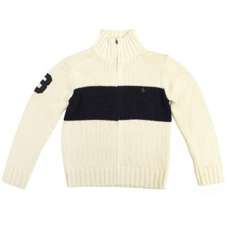 Polo by Ralph Lauren Cream and Navy Cardigan