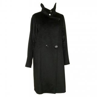 Max Mara glossy black coat