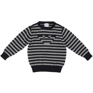 Armani Junior Striped Jumper