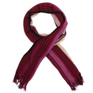 Missoni pink patterned scarf