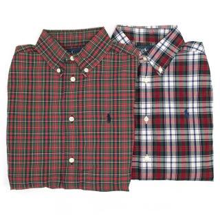 Ralph Lauren red and Green Plaid Button Down Shirt