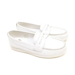 Mayoral Kids White Mocassin Shoes