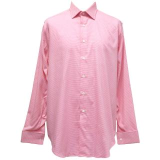 Richard James Pink & White Patterned Shirt