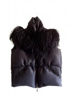 Moncler Gamme Rouge Ostrich Feathers Vest