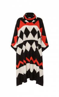 Temperley London Designer Adrienne Poncho Red Mix, RRP �395