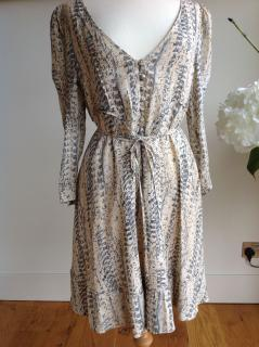 Reiss Feather Printed Dress