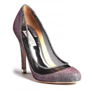 Badgley Mischka Sparkle Mesh Pumps