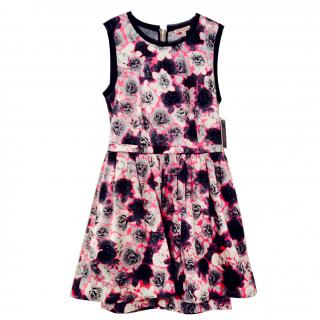 Juicy Couture Rose Print Dress with netted underskirt