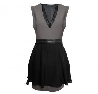 Mackage Shift Mini Dress With Silk Organza Detail