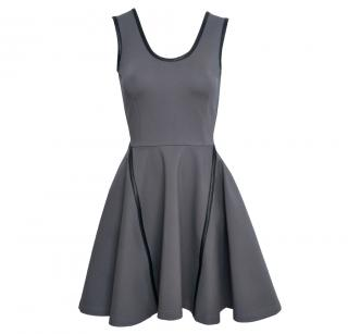 Mackage Sleeveless Jersey Dress With Leather Trim