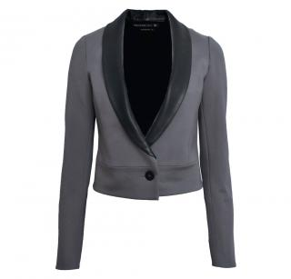 Mackage Cropped jacket with leather and silk detail