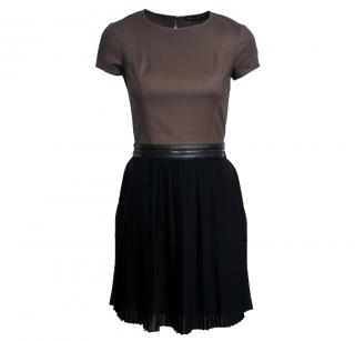 Mackage Dress With Capped Sleeves And Pleated Layered Skirt