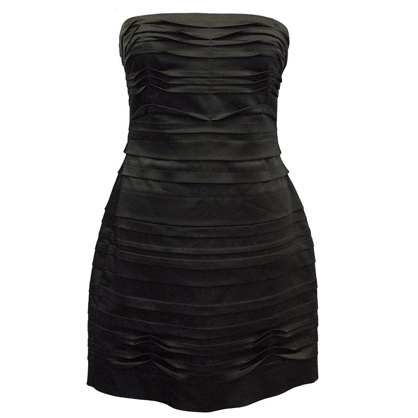 BCBG  Max Azria Black Strapless Dress