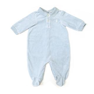 Ralph Lauren Pale Blue Baby Onesie