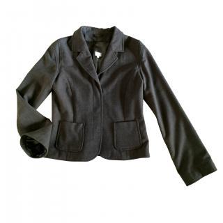 Essentiel Antwerp wool blend khaki melange blazer