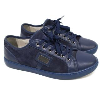 Dolce & Gabbana Blue Suede and Leather Trainers