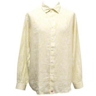 Pink House Mustique Yellow Floral Print Button Down Shirt