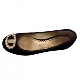 Juicy Couture Black Ballerinas