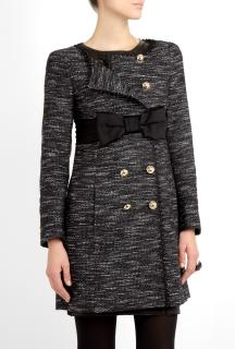 Moschino Boucle Bow Coat