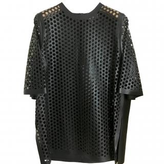 Mulberry Black Laser Cut Leather Top