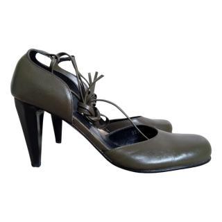 Karine Arabian khaki heels