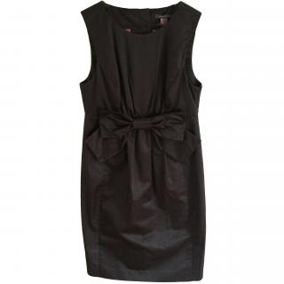Orla Kiely Brown Satin Bow Dress
