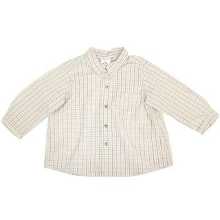 Bonpoint Kids Brown and Beige Checked Shirt
