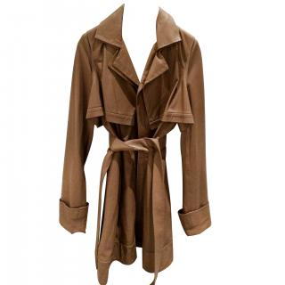 Amanda Wakeley Leather Trench Style Coat