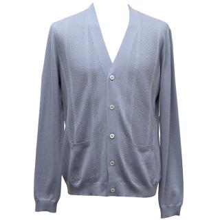Prada Blue Solid Longsleeved Shirt