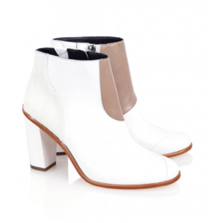 Tibi White 'Naomi' Ankle Boots