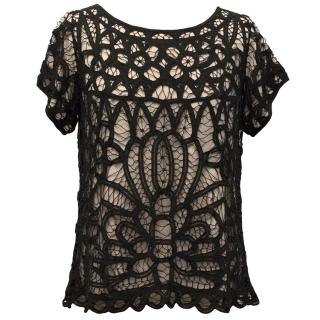 Day Birger et Mikkelsen Pink Top with Black Lace