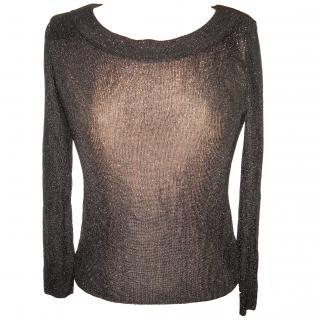 Entracte black shimmer jumper