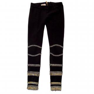 Sass & Bide Black Crystal Leggings