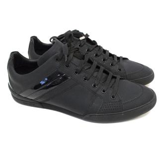 Christian Dior Black Lace-up Trainers