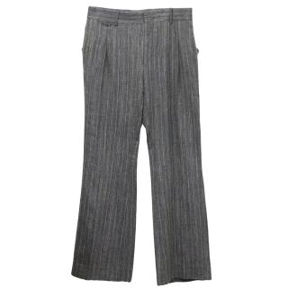 Yves Saint Laurent Grey Tweed Trousers