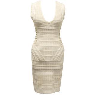 Herve Ledge Beige Dress with String Detail