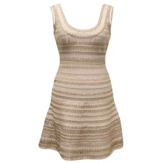 Herve Leger Pale Pink Dress with Beads
