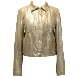 Christian Dior Metallic Gold Jacket