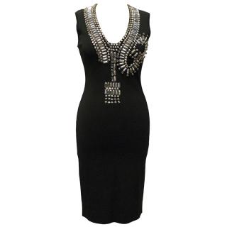 Givenchy Black Dress with Silver Beaded Detailing