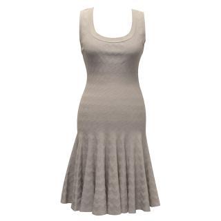 Alaia Warm Stone Grey Dress