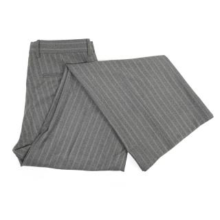Yves Saint Laurent Grey Striped Trousers