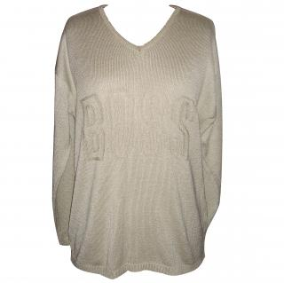 Boss Cotton Biege Knit Jumper